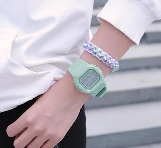 Đồng hồ thể thao nữ SPPORS mặt chữ nhật dây cao su size 36x32mm