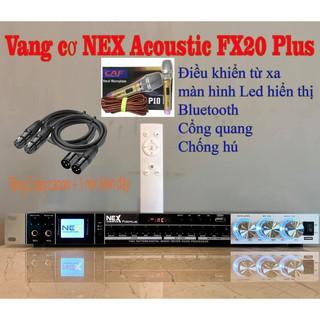 Vang cơ NEX FX20PLUS , tặng 2 dây canon , 1 micro có dây 7m , có điều khiển , có blutooth, usb , cổng quang , chống hú thumbnail
