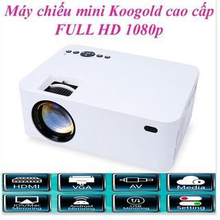 Máy Chiếu Mini Kết Nối Điện Thoại KOOGOLD chính hãng Full HD, Kết Nối Wifi, Điện Thoại, Độ Phân Dải Cao, Sắc Nét. Bảo thumbnail