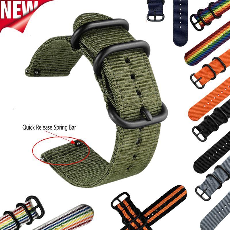 Dây Đeo Nillkinon Nato 22mm 24mm 20mm/18mm Cho Đồng Hồ Thông Minh Samsung Gear S3/S2