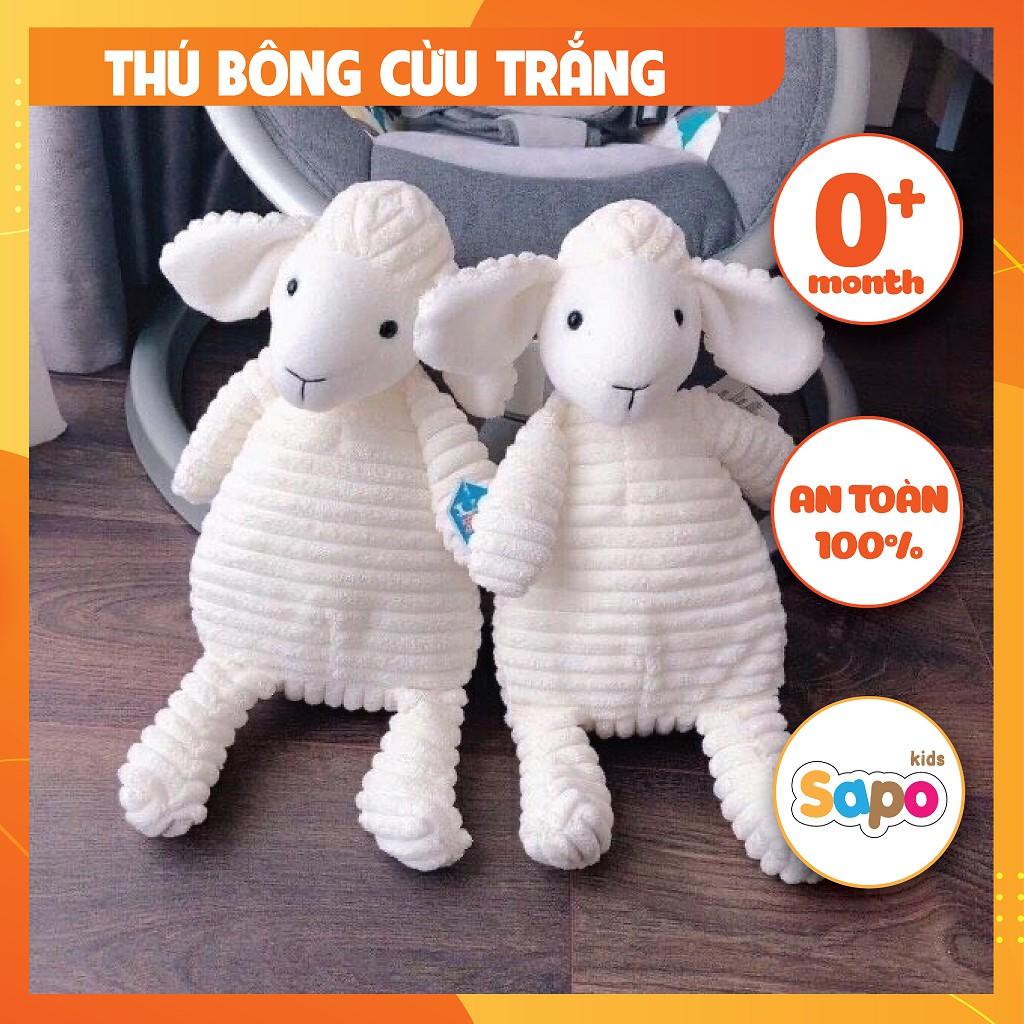 Cừu Bông Ngộ Nghĩnh Cho Bé Màu Trắng, Thú Bông Cho Bé