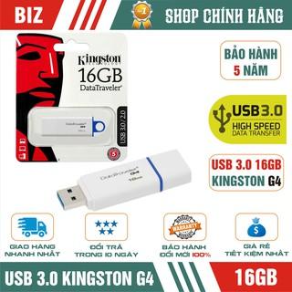[Mã ELFLASH5 giảm 20K đơn 50K] USB 3.0 16GB Kingston DataTraveler G4 - Bảo hành 5 năm