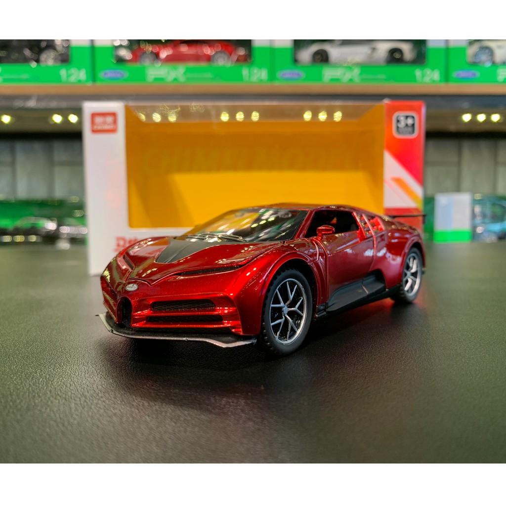 Mô hình hợp kim siêu xe Bugatti Centodieci tỉ lệ 1:32 CHIMEI màu đỏ