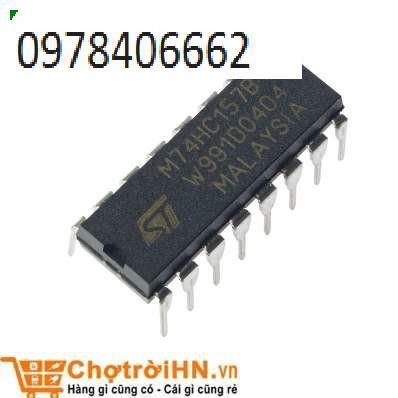 Chíp 74HC157 Quad 2-input Data Multiplexers DIP16