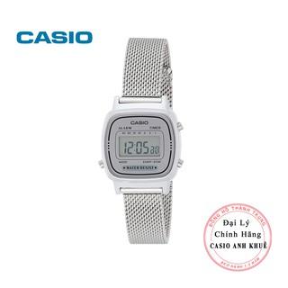 Đồng hồ điện tử nữ Casio LA670WEM-7DF dây lưới kim loại