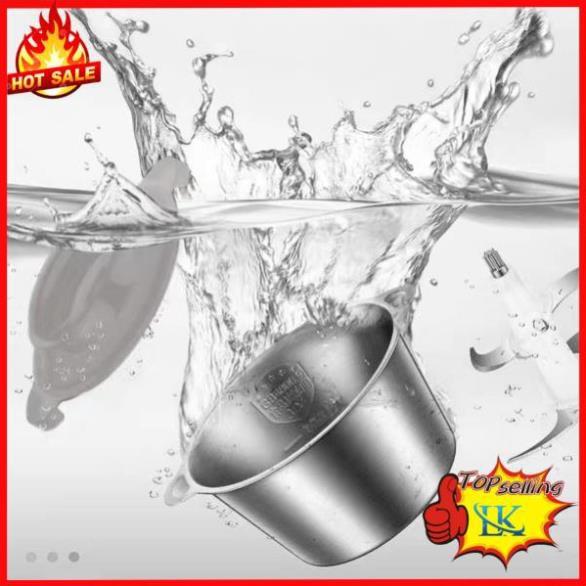 Máy xay đa năng xay thịt rau củ quả gia vị cối inox 4 lưỡi đa năng công suất 250W dung tích 2L