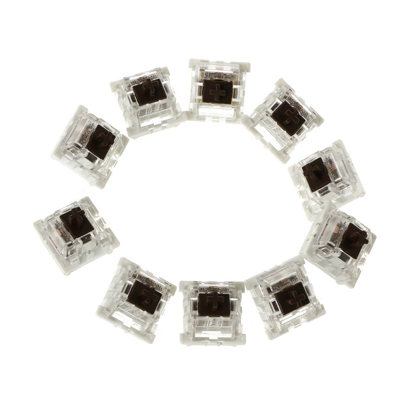 (Hàng Mới Về) Bộ 10 Công Tắc Bàn Phím Cơ 3 Pin Màu Xanh Dương / Đỏ / Nâu / Đen Thay Thế Cho Gateron Cherry Mx