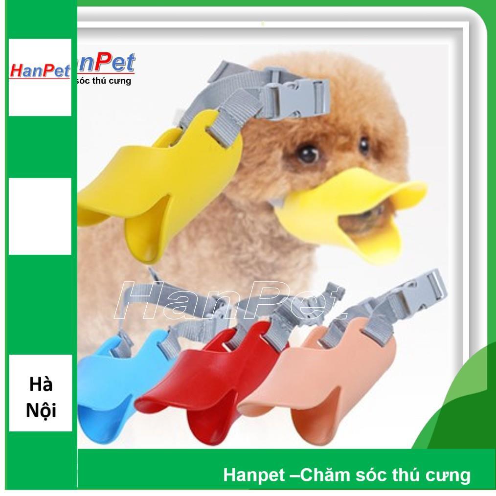 Rọ mõm chó hình mỏ vịt - chất liệu nhựa dẻo Hanpet 608|size M