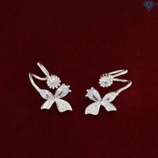 Bông tai nữ bạc 925, khuyên tai bạc nữ hình cánh bướm đẹp giá rẻ BTN0083 - Trang Sức TNJ