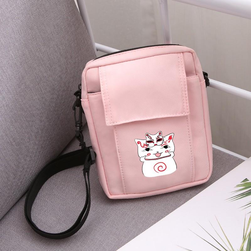 แบบพกพาสะดวกกระเป๋าแพ็คการ์ตูนน่ารักหน้ากากกระเป๋าแมว