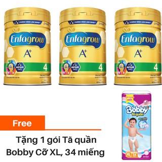 """[Tặng 1 Tã quần Bobby XL, 34 miếng] Combo 3 lon Sữa bột Enfagrow A + 4 870g giá chỉ còn <strong class=""""price"""">118.900.000.000đ</strong>"""