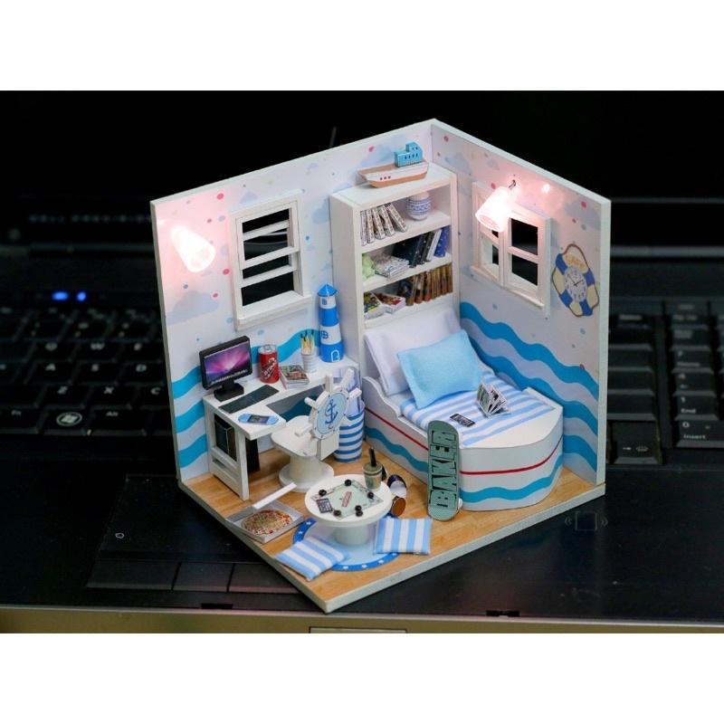 VA03 mô hình nhà búp bê(có keo,mika,đèn)