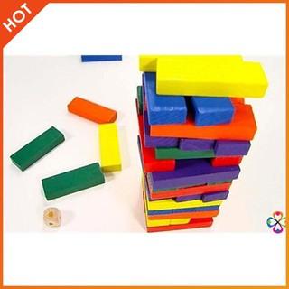 Bộ đồ chơi rút gỗ 48 thanh màu | HÀNG MỚI