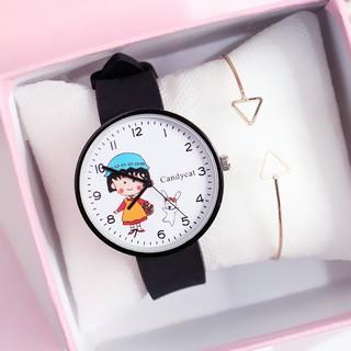 ( Giá Sỉ ) Đồng hồ Candycat thời trang nữ hình Maruko dây silicon SL169