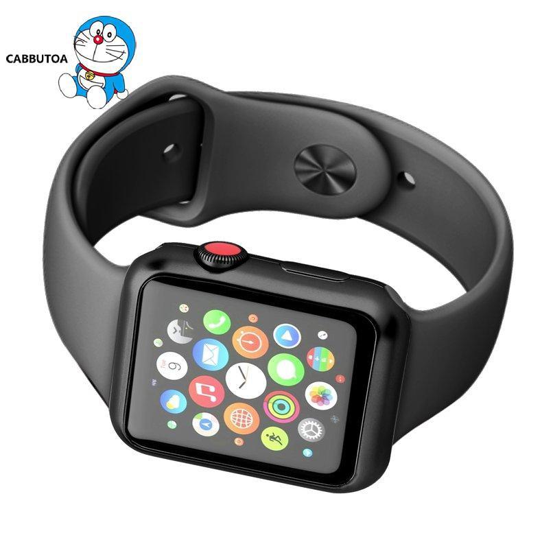 Ốp Nhựa Tpu Mạ Điện Bảo Vệ Mặt Đồng Hồ Thông Minh Apple Watch