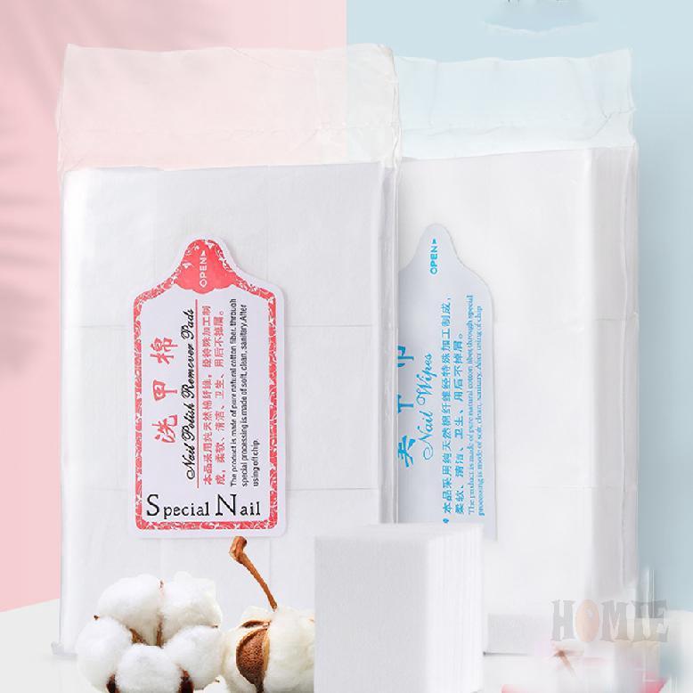600 ชิ้น  Remover ล็อต อาบน้ำแต่งเล็บเจลขุยผ้าเช็ดทำความสะอาดผ้าฝ้าย 100% ผ้ากันเปื้อนสำหรับเล็บเครื่องมือ 992