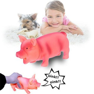 Pet Dog Puppy Screaming Rubber Pig Squeak Squeaker Chew Fetch Play Toy Cute Hot