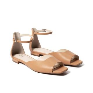 JUNO - Giày sandal hở mũi có dây cổ chân - SD01094 thumbnail