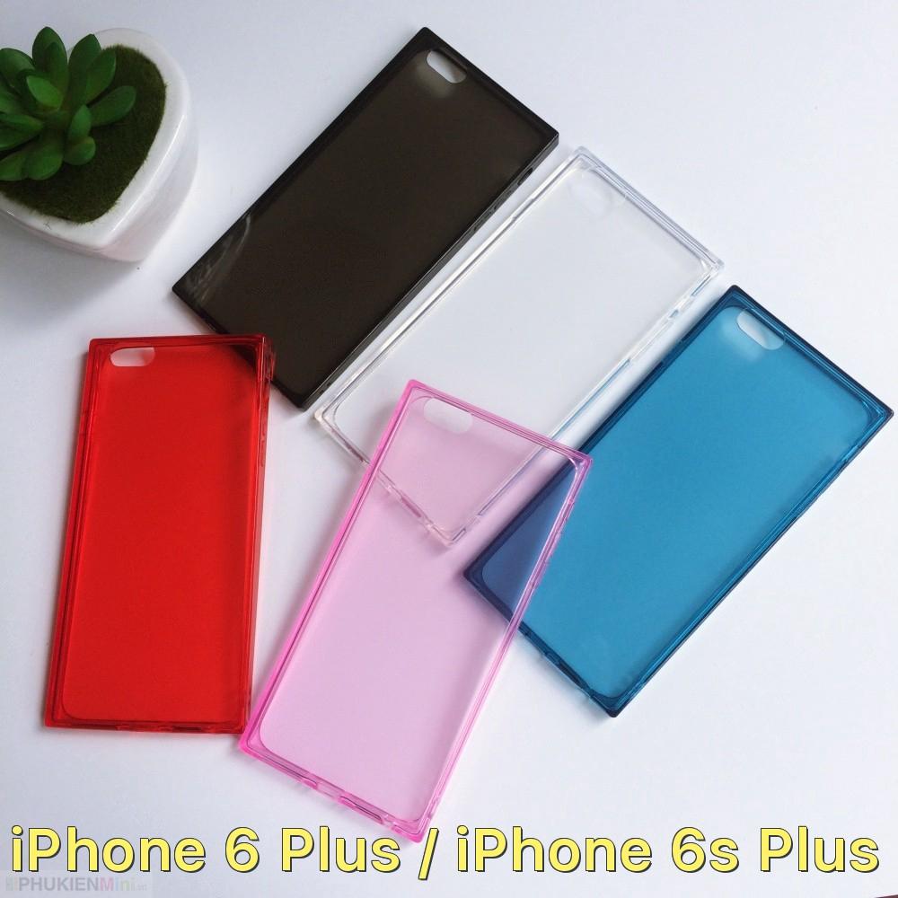 Ốp lưng vuông dẻo màu trong suốt chống sốc 4 góc cho iPhone 6 Plus / iPhone 6s Plus giá rẻ
