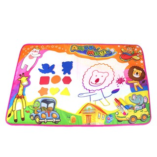 Kids 80x57cm Animal Theme Doodle Water Drawing Mat With 3 Pens & Stamp Educational Toys
