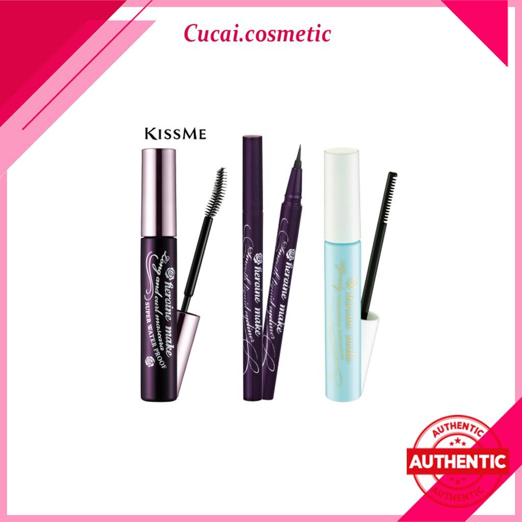 Set Mascara kẻ mắt tẩy trang Kissme Isehan Kiss Me Heroine