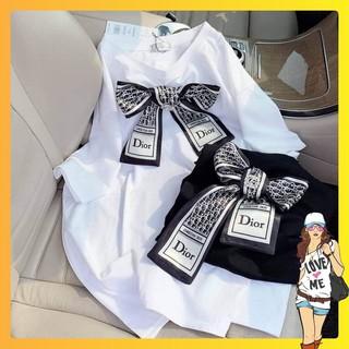 Áo bà bầu chất cotton mùa hè cộc tay mặc nhà hoặc đi chơi có nơ ngực ABN012 thumbnail