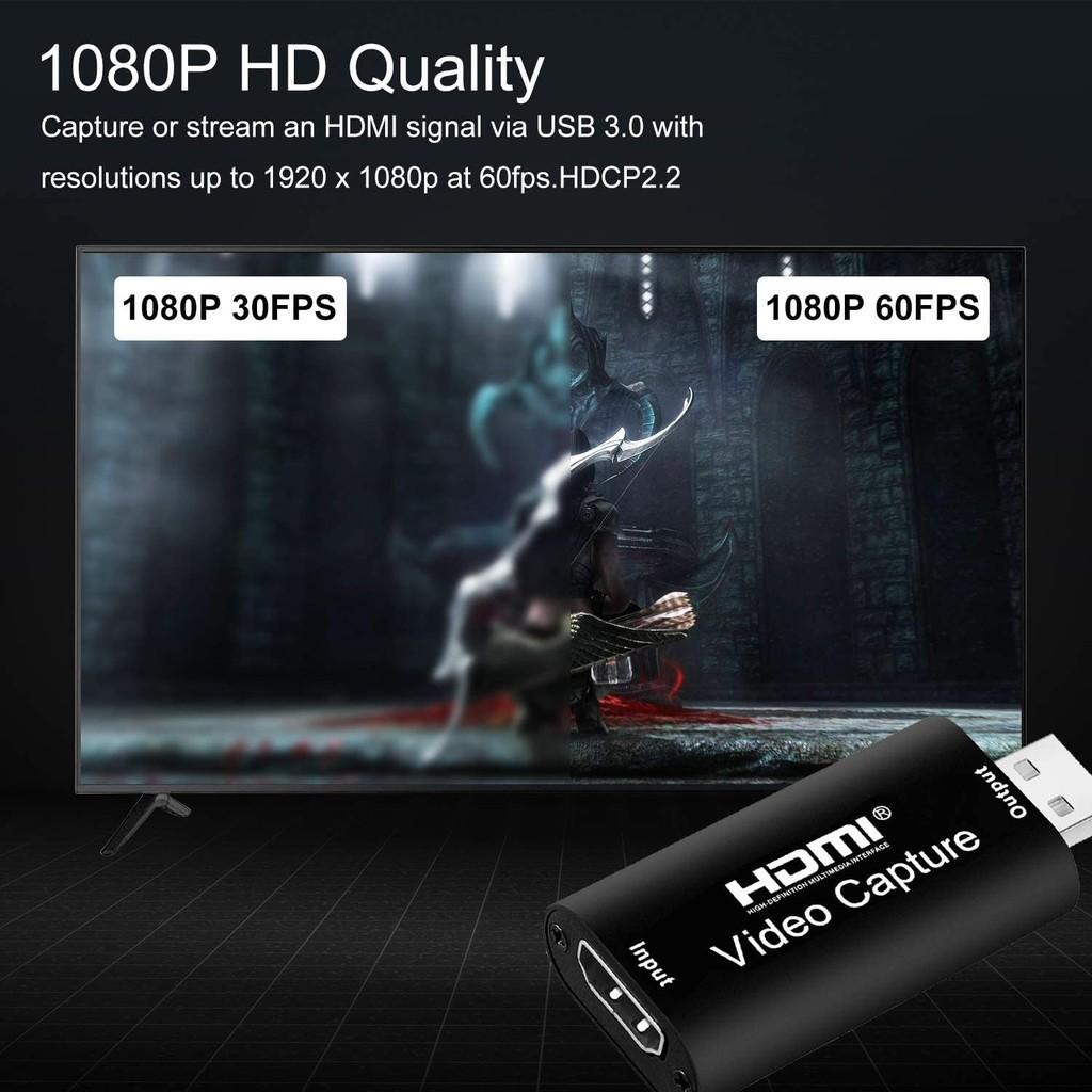 Đầu chuyển HDMI vào laptop, pc qua cổng USB, Video capture hỗ trợ độ phân giải 4K - HDMI - Usb 3.0