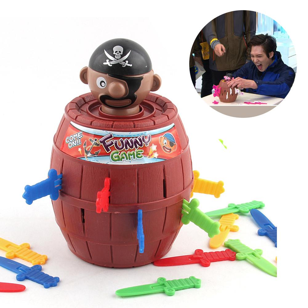 Outdoor Funny Gadget Pirate Barrel Game Toys for Children Lucky Stab Pop Up Toy Camping