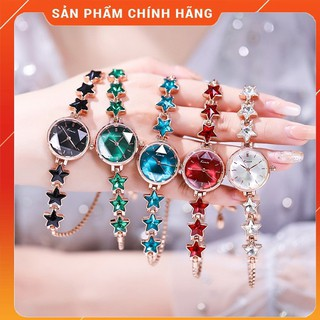 Đồng Hồ Nữ KIMIO 6352 dây rút, dây đính đá ngôi sao may mắn, mặt tròn nữ tính thumbnail