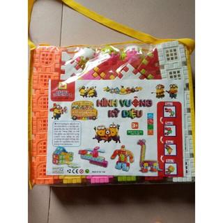bộ xếp hình vuông 200 chi tiết cho bé