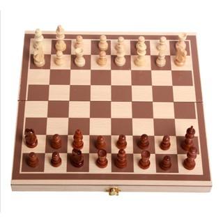 Bộ cờ vua bằng gỗ có hộp đựng kiêm bàn cờ đi kèm Bgia sàn