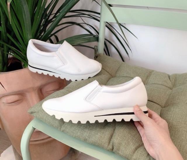 Giày slipon da lì nâng đế 5p xuất xịn ( ảnh thật, kèm video)