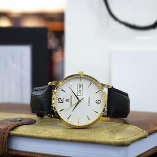 Đồng hồ nam dây da Sunrise DM778SWA, full box, bảo hành 3 năm, sapphire chống xước, chống nước