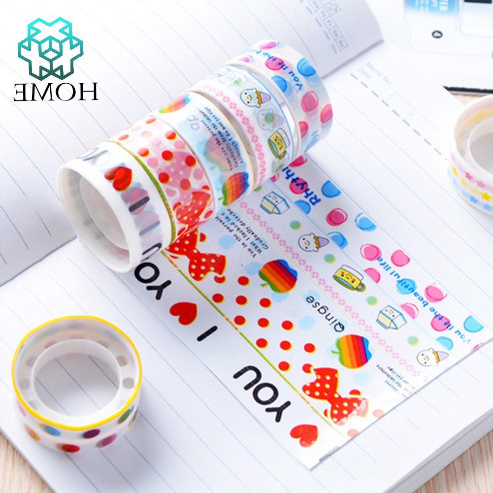 Bộ 10 Băng dính nhiều màu xinh xắn dùng để trang trí