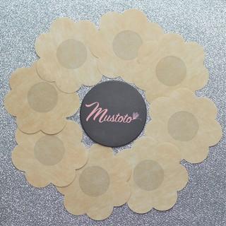 Miếng Dán Ngực Nhũ Hoa (Đầu Ti) Giấy Bông Hoa Mustoto (5 cặp) thumbnail