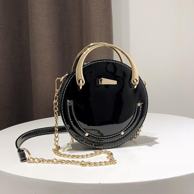 Túi xách nữ tròn da bóng kiểu dáng trẻ trung - T891