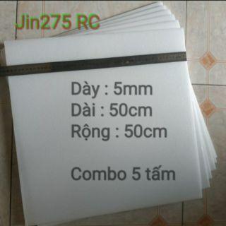 Xốp Depron 5mm COMBO 5 tấm ( dùng chế tạo kit máy bay RC)