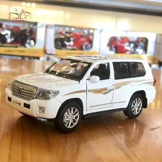 Mô hình xe ô tô Toyota Land Cruiser V8 tỉ lệ 1:32 màu trắng hàng Quảng Châu
