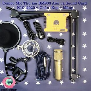 Chọn Bộ Thu Âm livestream AMI BM900-XOX K10 Bản Kỷ Niệm 2020 và chân kẹp bh 1 năm