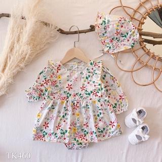 Quần áo trẻ em QUỲNH BOUTIQUE đầm body hoa nhí thumbnail