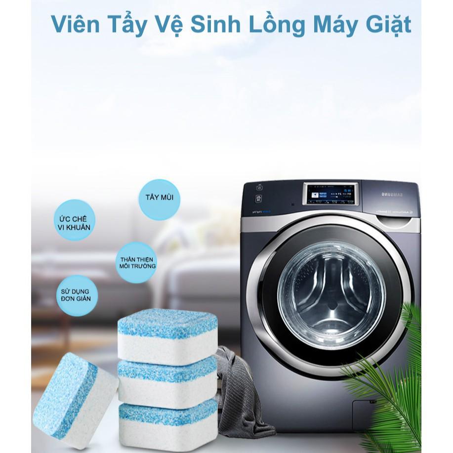 [Combo 3]Viên Tẩy Vệ Sinh Lồng Máy Giặt, Diệt khuẩn ,Tẩy chất cặn bẩn Lồng máy giặt nhật bản  - Kèm móc dán tường