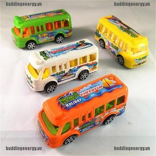 {buddi} Plastic School Bus Kids Toys American Student Pull Back Kids Gifts Toys{LJ}