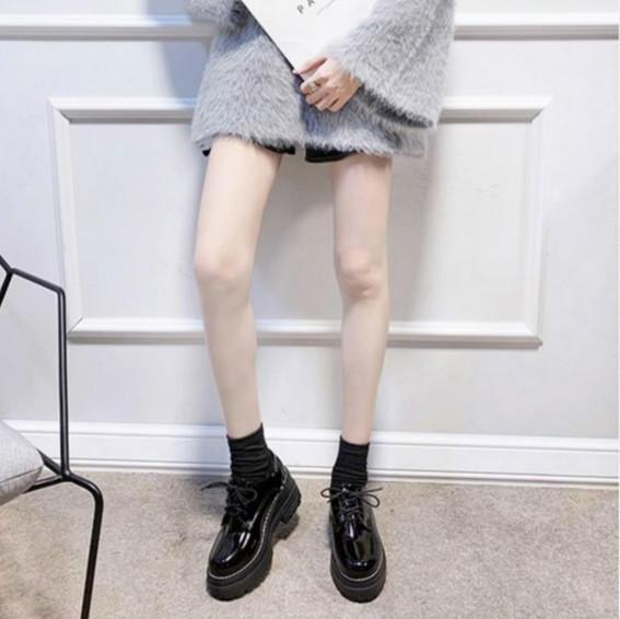 Giày Da Bóng Phong Cách Hàn Quốc Đơn Giản Dành Cho Nữ