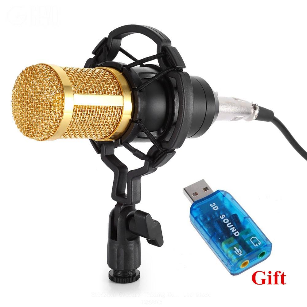 Bộ thu âm dành cho các bạn sinh viên yêu ca hát - Micro BM800 + Quà tặng USB Sound 3D ra âm thanh 5.1