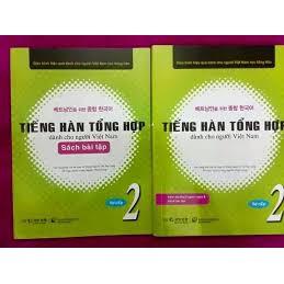 [FREESHIP] Sách - Tiếng hàn tổng hợp dành cho người Việt Nam Sơ Cấp 2 ( Giáo Trinh + Bài Tập+ CD)
