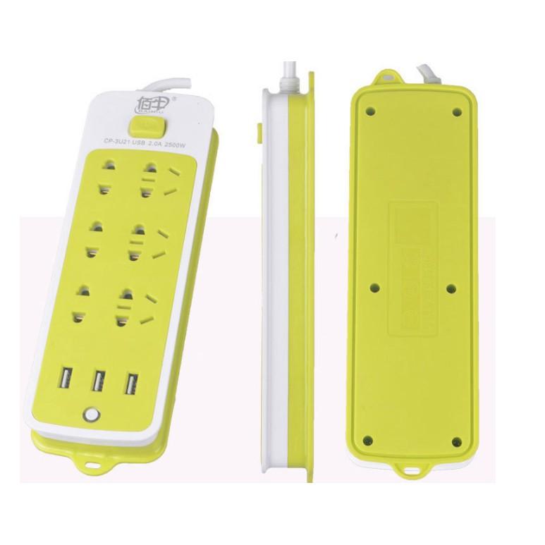 ổ điện USB xanh