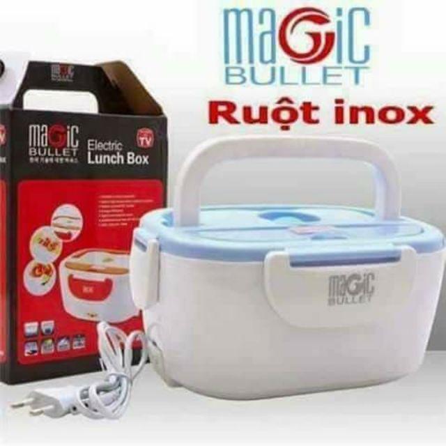 Hộp cơm hâm nóng ruột inox cắm điện ( inox 304)--