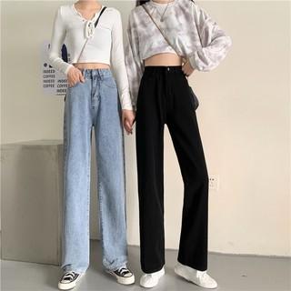 Quần jean, quần bò baggy nữ ống suông rộng TX-01+ TRD01 hot trend 2021