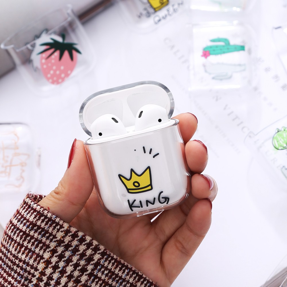Vỏ Đựng Tai Nghe Airpods Airpods 1/2 & Airpods 3/Pro Silicon Trong Suốt Nhiều Hình