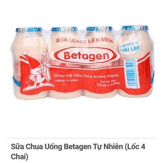 Sữa Chua Uống Lên Men Betagen Dâu/ cam/ tự nhiên 85ML (Lô 4)